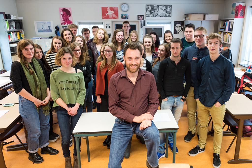 Schrijver in de klas Michiel Lieuwma
